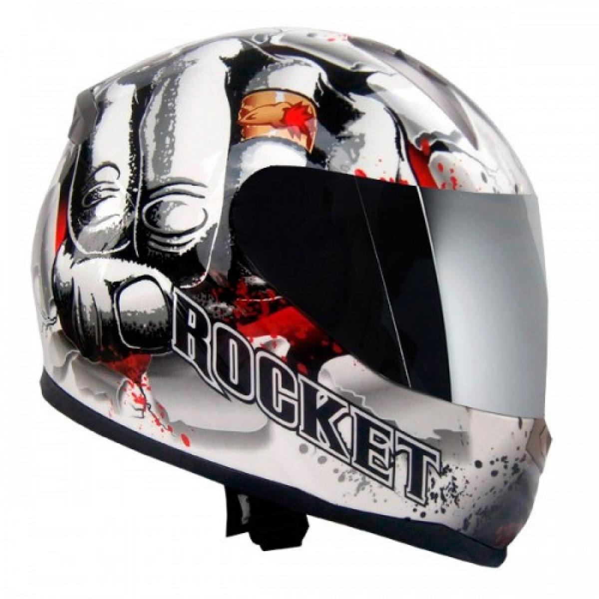 Capacete Joe Rocket Fist White  - Motosports
