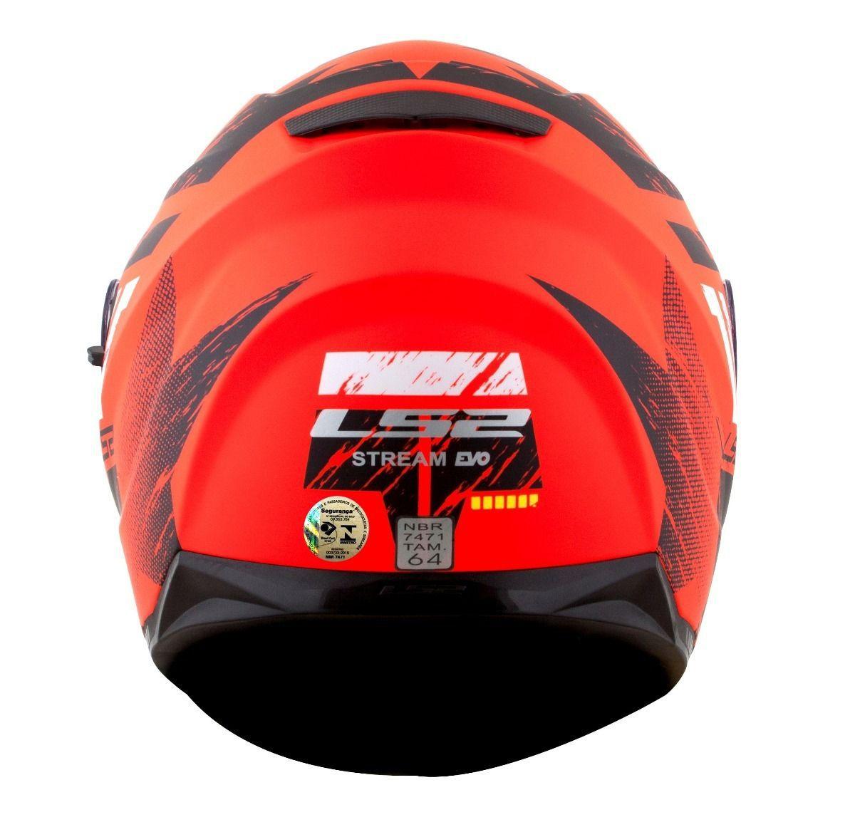 CAPACETE LS2 FF320 HUNTER (C/ VISEIRA SOLAR) LARANJA  - Motosports