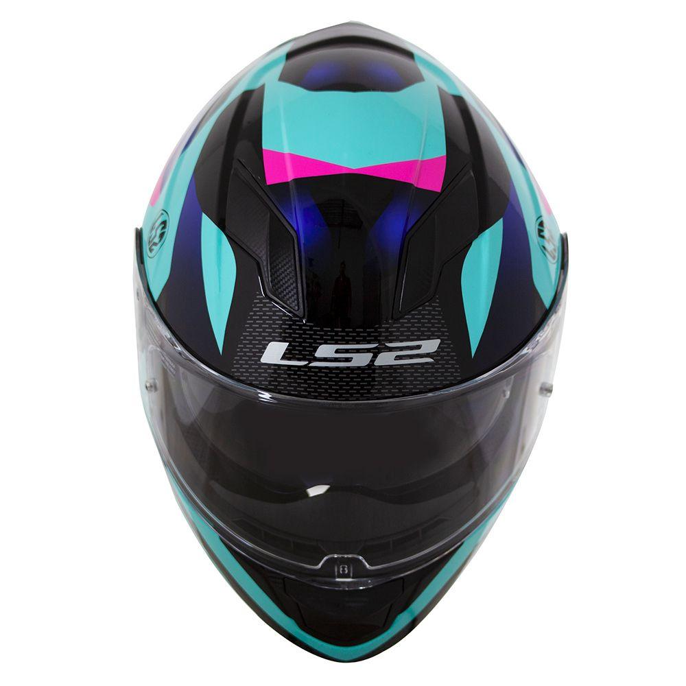 CAPACETE LS2 FF320 STREAM CROWN BLU/BLK/PINK  - Motosports