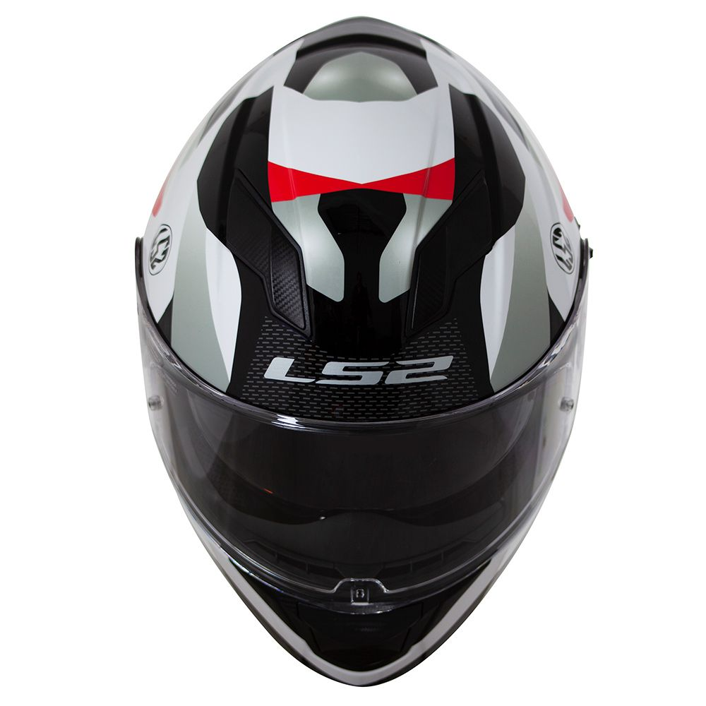 CAPACETE LS2 FF320 STREAM CROWN WHT/RED  - Motosports