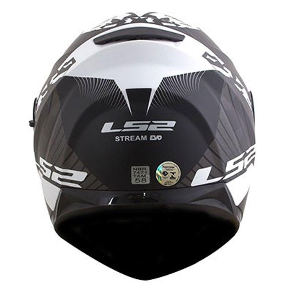CAPACETE LS2 FF320 STREAM HYPE MATTE PRETO/BRANCO  - Motosports