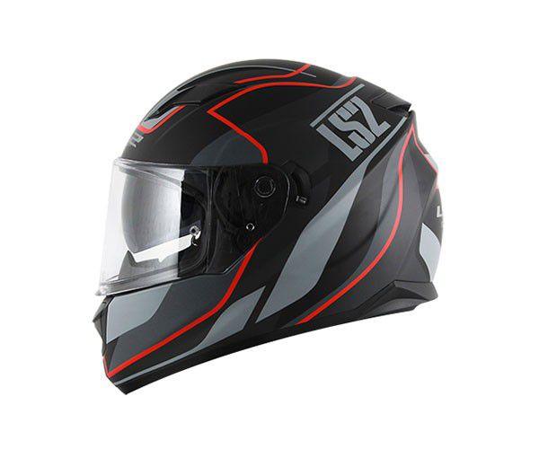 CAPACETE LS2 FF320 STREAM VANTAGE MATTE BLK/RED  - Motosports