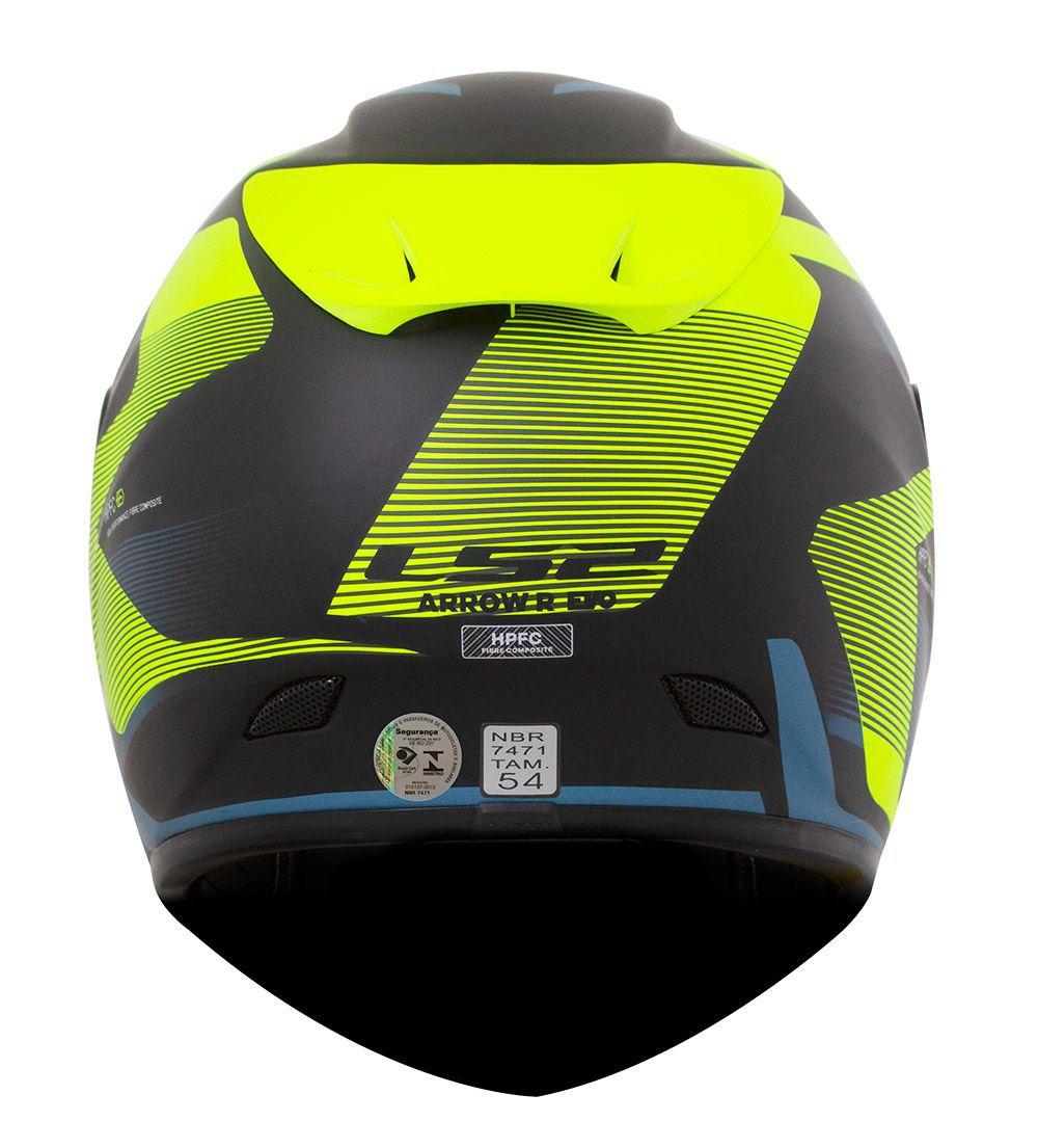 CAPACETE LS2 FF323 ARROW R COMPETE - AZUL FOSCO / AMARELO / PRETO - LANÇAMENTO  - Motosports