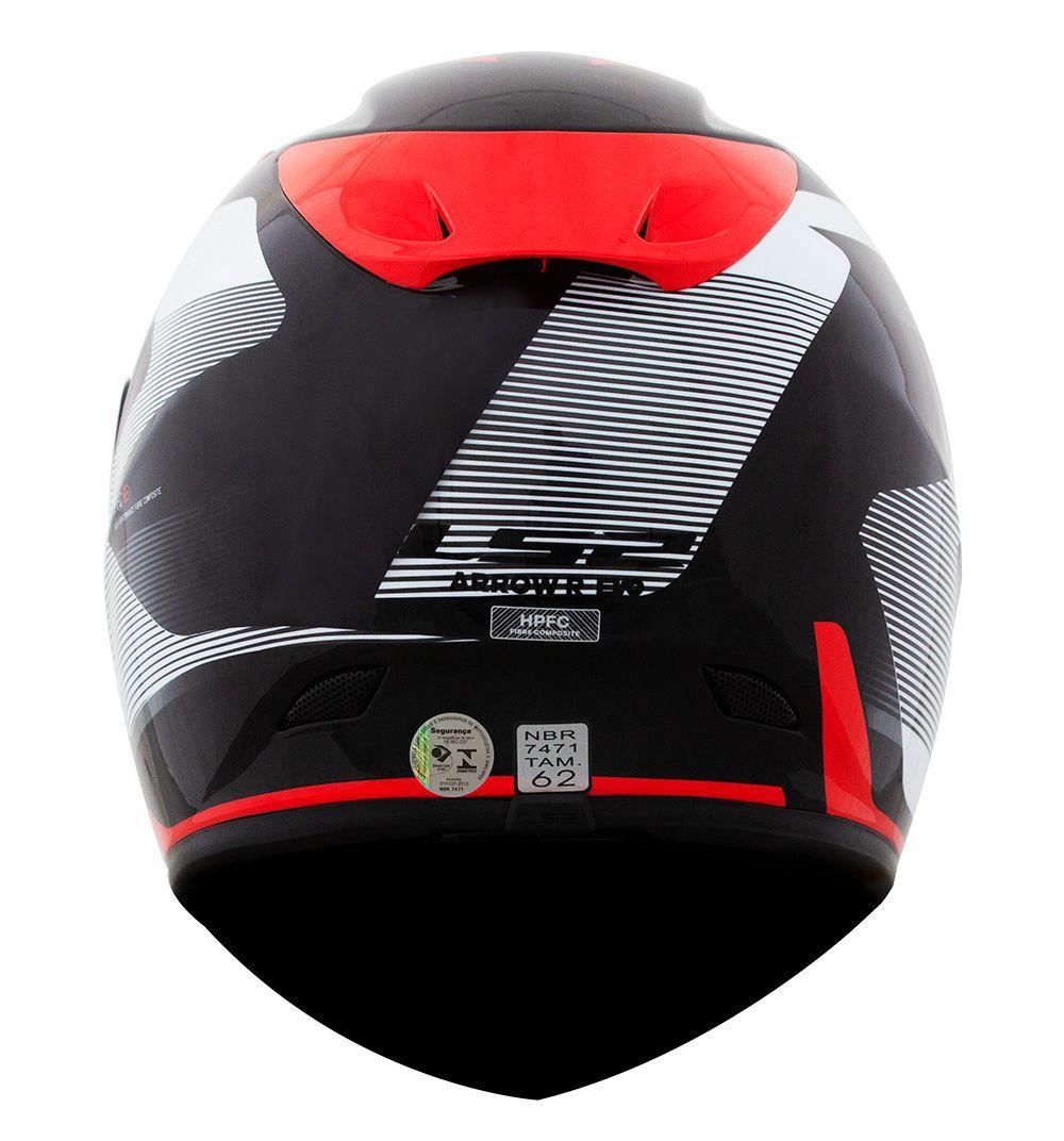 CAPACETE LS2 FF323 ARROW R COMPETE - TITANIUM / VERMELHO / BRANCO - LANÇAMENTO  - Motosports