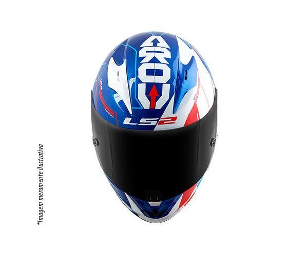 CAPACETE LS2 FF323 ARROW R TECHNO BRANCO / AZUL  - Motosports