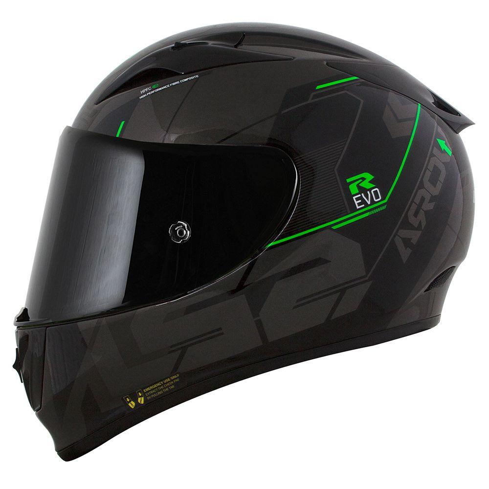 CAPACETE LS2 FF323 ARROW R TECHNO PRETO/CINZA/VERDE  - Motosports