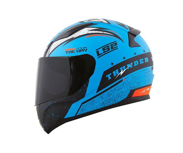 CAPACETE LS2 FF353 RAPID THUNDER - AZUL  - Motosports