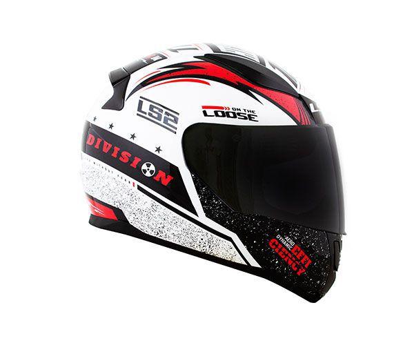 CAPACETE LS2 FF353 RAPID THUNDER - PRETO/BRANCO/VERMELHO  - Motosports