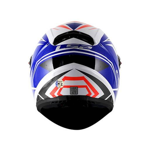 CAPACETE LS2 FF358 BLADE BRANCO/VERMELHO/AZUL  - Motosports