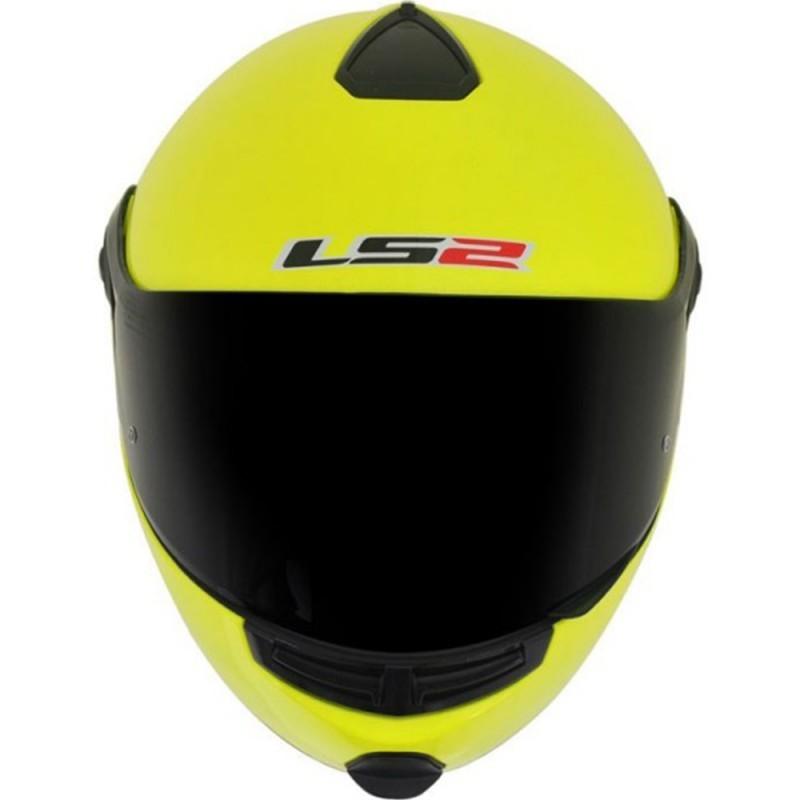CAPACETE LS2 FF386 ARTICULADO (ROBOCOP) AMARELO FLUOR  - Motosports