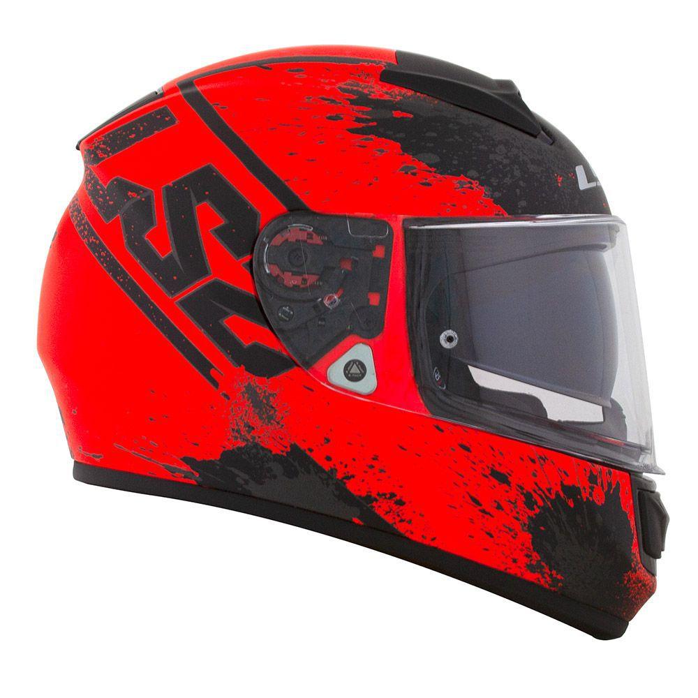CAPACETE LS2 FF397 VECTOR EVO SQUASH PRETO/LARANJA  - Motosports
