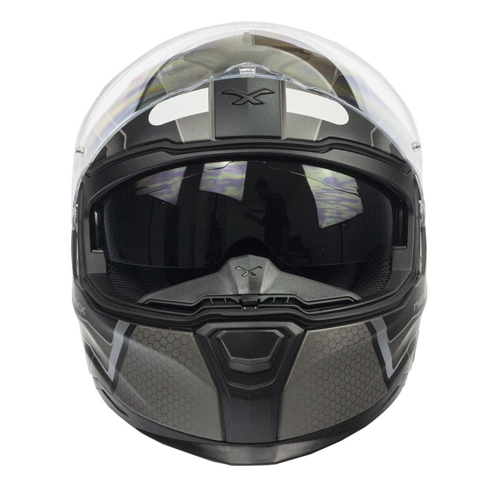 Capacete Nexx SX100 Iflux Cinza C/ Viseira Solar   - Motosports