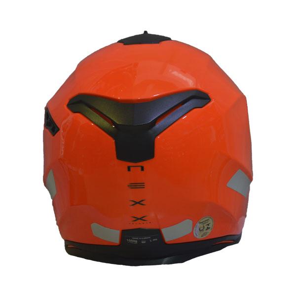 CAPACETE NEXX SX100 PLAIN LARANJA NEON C/ VISEIRA SOLAR   - Motosports