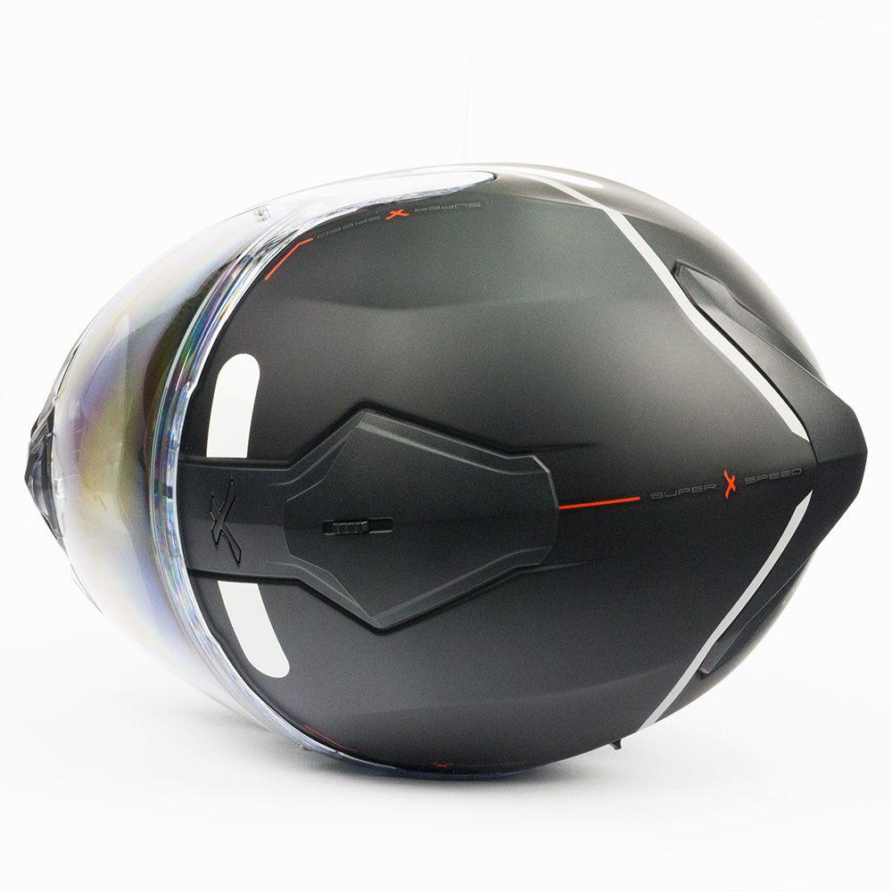 Capacete Nexx SX100 Super Speed Preto C/ Viseira Solar  - Motosports