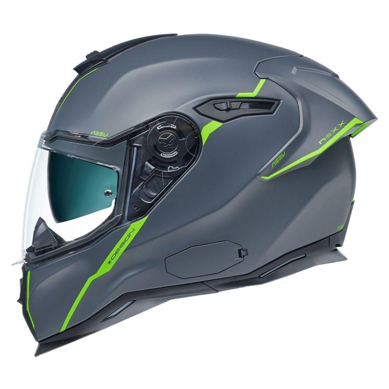 CAPACETE NEXX SX100R SHORTCUT CINZA NEON FOSCO  - Motosports