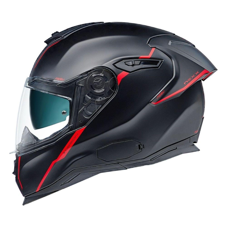 CAPACETE NEXX SX100R SHORTCUT PRETO VERMELHO FOSCO  - Motosports