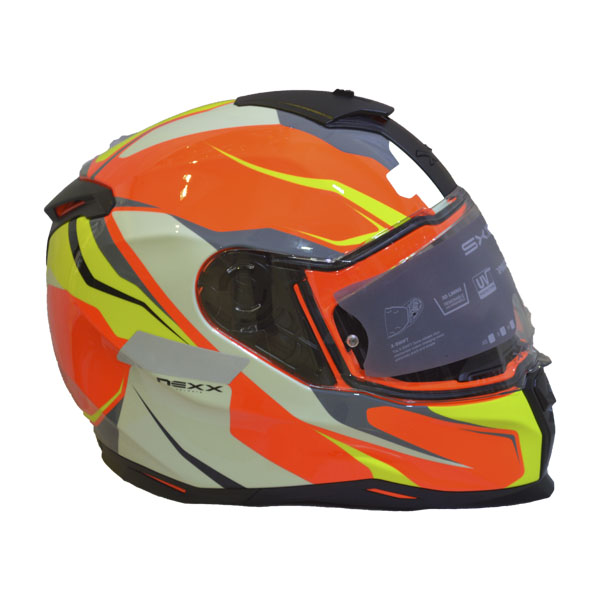 CAPACETE NEXX SX.100 QUANTIC - LARANJA/ AMARELO (SX100) (LANÇAMENTO)  - Motosports