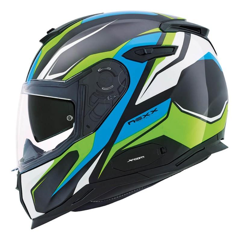 CAPACETE NEXX SX.100 QUANTIC - NEON AMARELO/AZUL (SX100) (LANÇAMENTO)  - Motosports