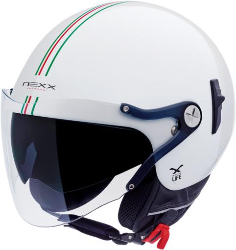 Capacete Nexx X60 Bastille Itália Branco Brilhante  - Motosports