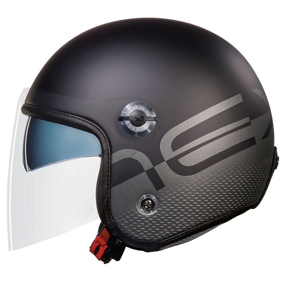 Capacete Nexx Sx70 City Black Matt Aberto Tri-composto c/ Viseira reta  - Motosports