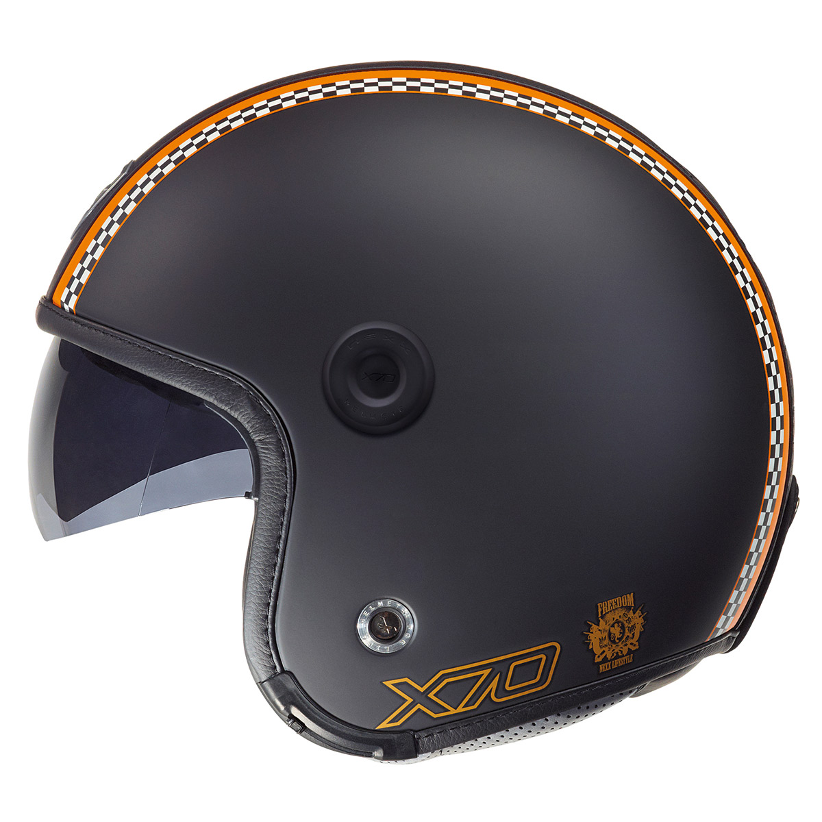 Capacete Nexx X70 Freedom Black Orange   - Motosports