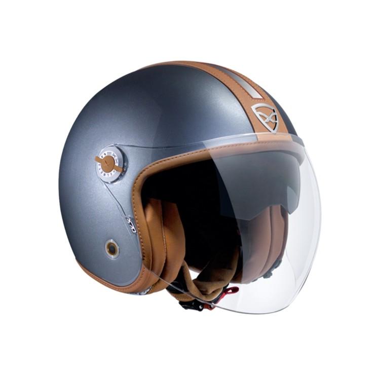 Capacete Nexx X70 Groovy Titanium Camel Fosco Aberto c/ Viseira Solar  - Motosports