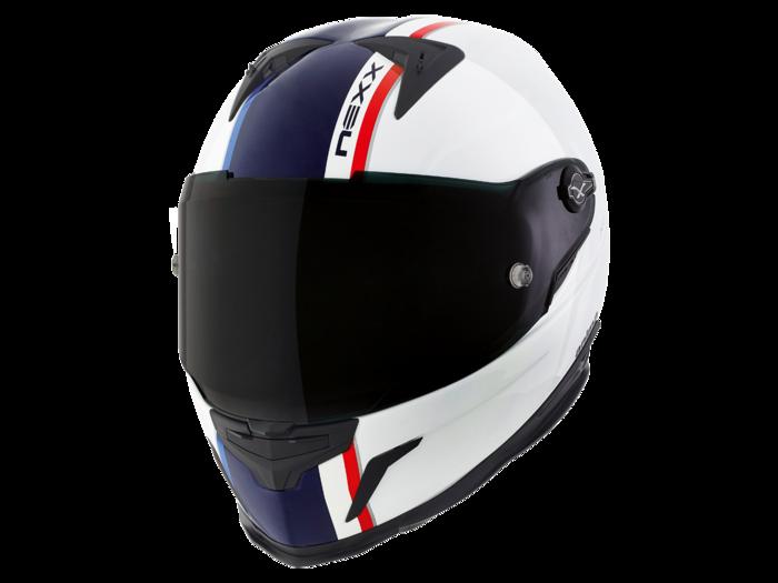 CAPACETE NEXX XR2 ANIMA BRANCO COM AZUL -  - Motosports