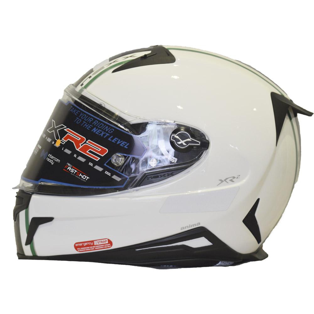 CAPACETE NEXX XR2 ANIMA BRANCO/PRETO -   - Motosports