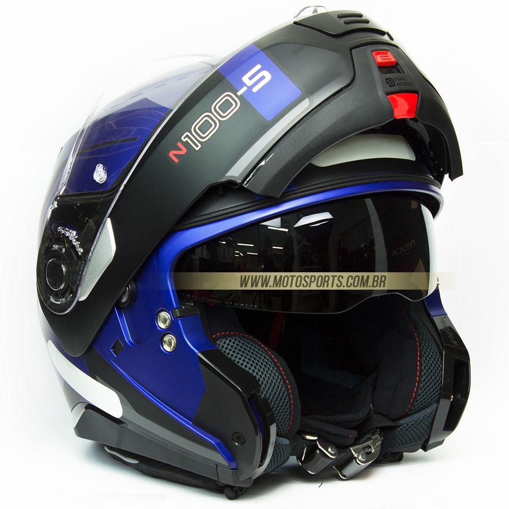 CAPACETE NOLAN N100-5 CONSISTENCY AZUL FOSCO (24) ARTICULADO  - Motosports