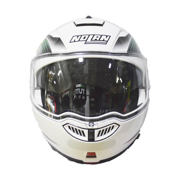 CAPACETE NOLAN N104 ABSOLUT ITALY - BRANCO - C/ VISEIRA INTERNA (COMPRE E GANHE UMA BALACLAVA)  - Motosports