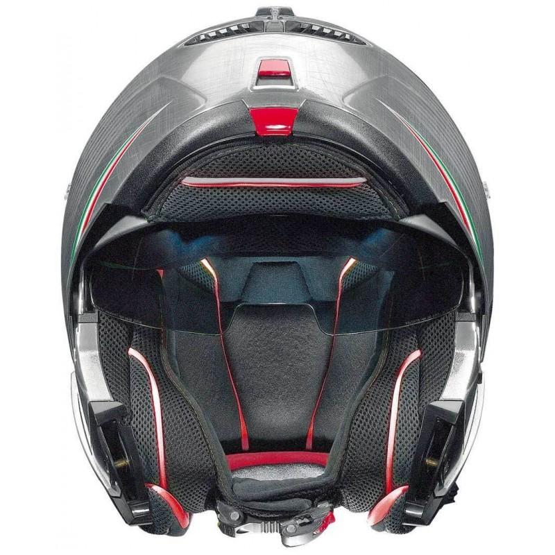 CAPACETE NOLAN N104 ABSOLUT ITALY - PRATA - C/ VISEIRA INTERNA (COMPRE E GANHE UMA BALACLAVA)  - Motosports