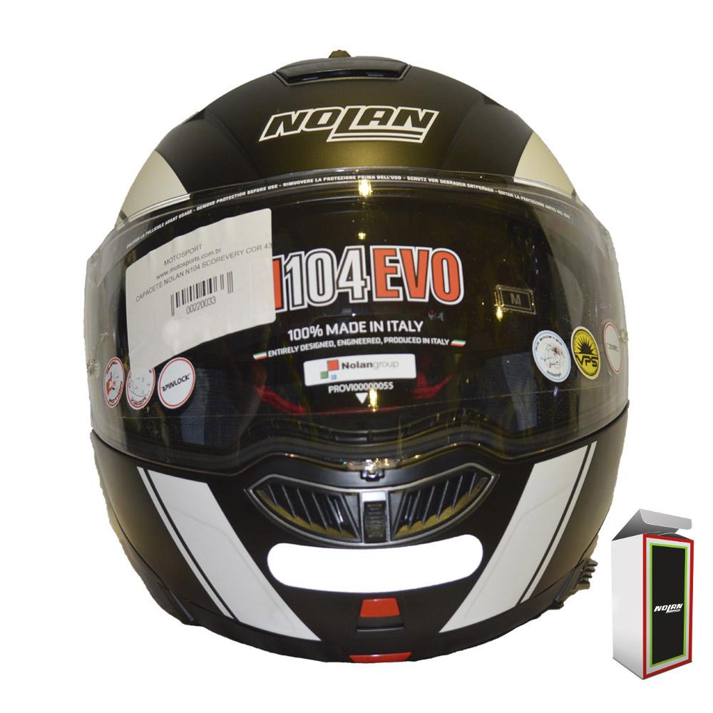 CAPACETE NOLAN N104 EVO - SCOVERY N-COM - FLAT BLACK (COMPRE E GANHE UMA BALACLAVA)  - Motosports