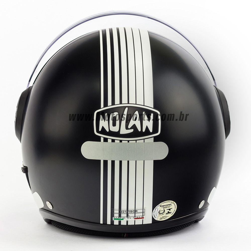 Capacete Nolan N21 Joie De Vivre Preto Fosco - C/ Viseira Solar Interna  - Motosports