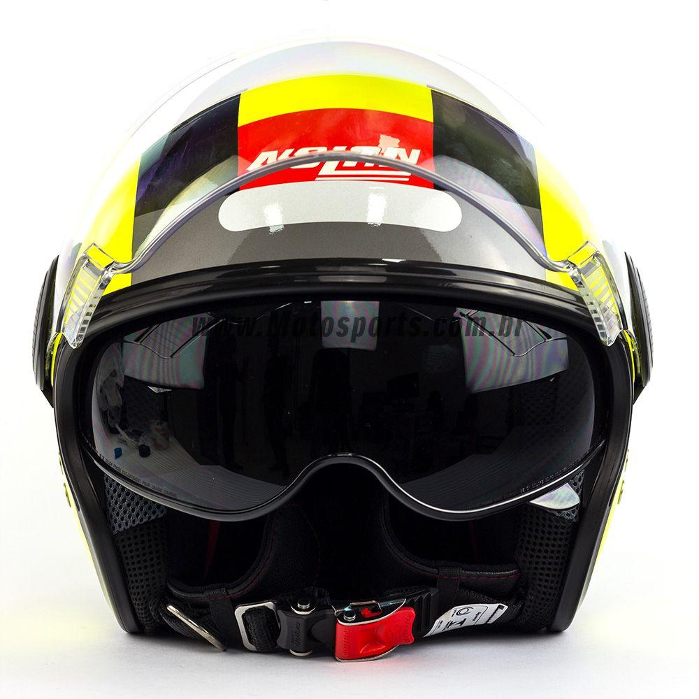 Capacete Nolan N21 Spheroid Led Amarelo (47) C/ Viseira Solar Interna  - Motosports