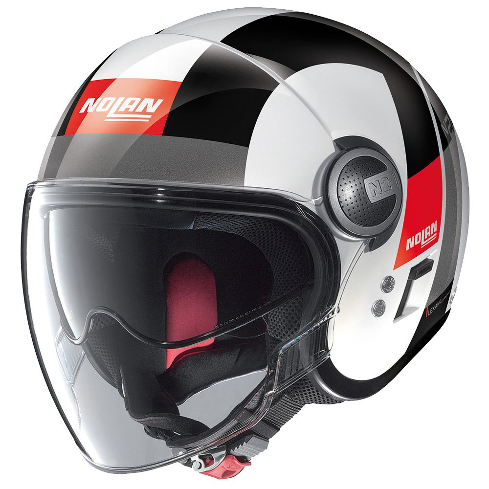 Capacete Nolan N21 Spheroid Metal Branco (46) C/ Viseira Solar Interna   - Motosports