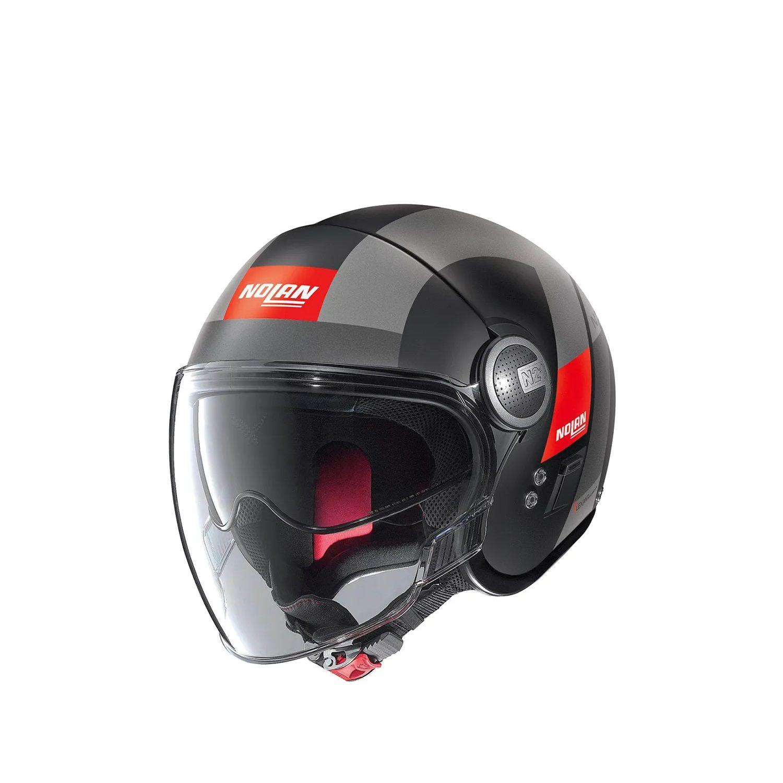 CAPACETE NOLAN N21 SPHEROID PRETO VERMELHO (51)  - Motosports
