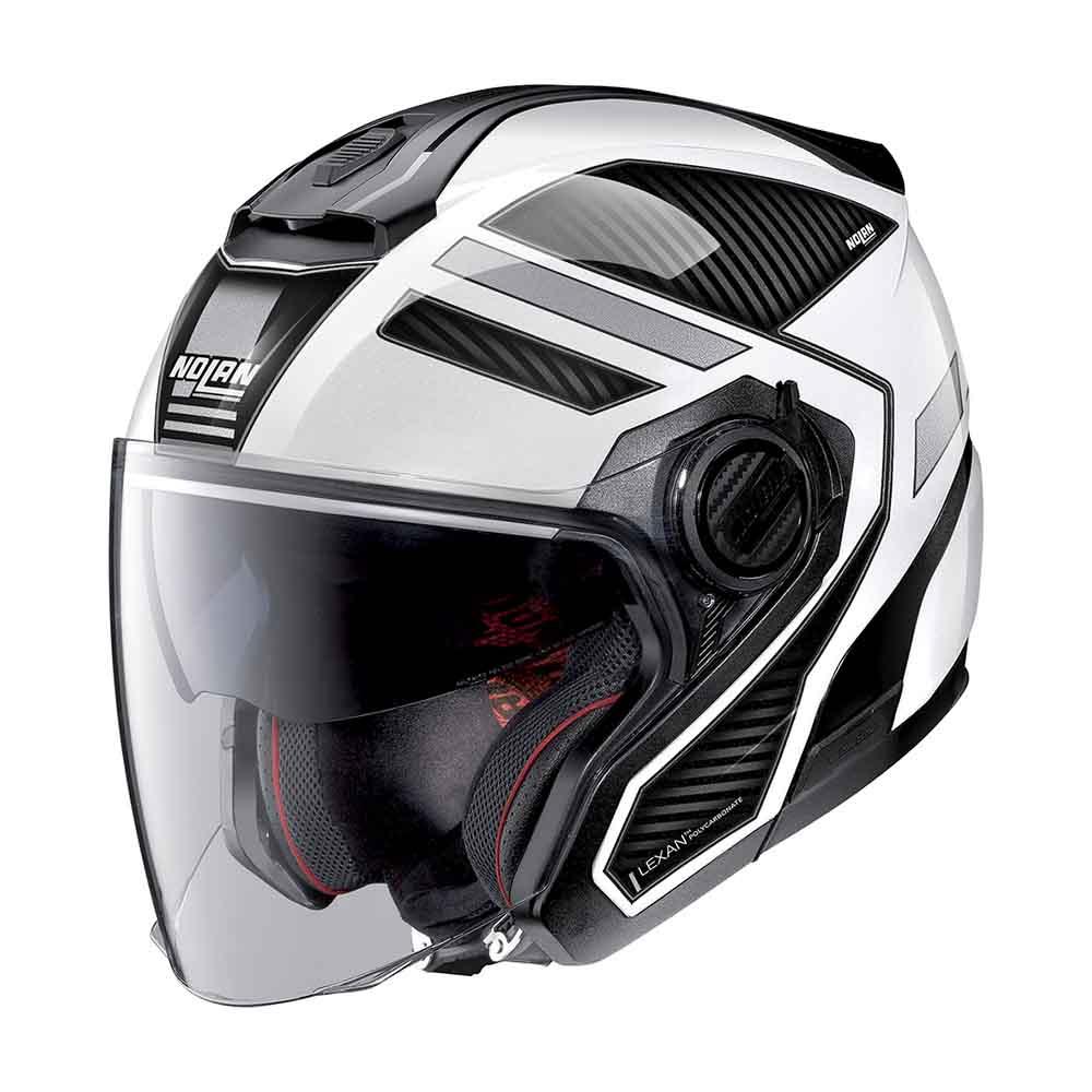 Capacete Nolan N40-5 Beltway Branco/Cinza 21 C/ Viseira Solar Interna  - Motosports