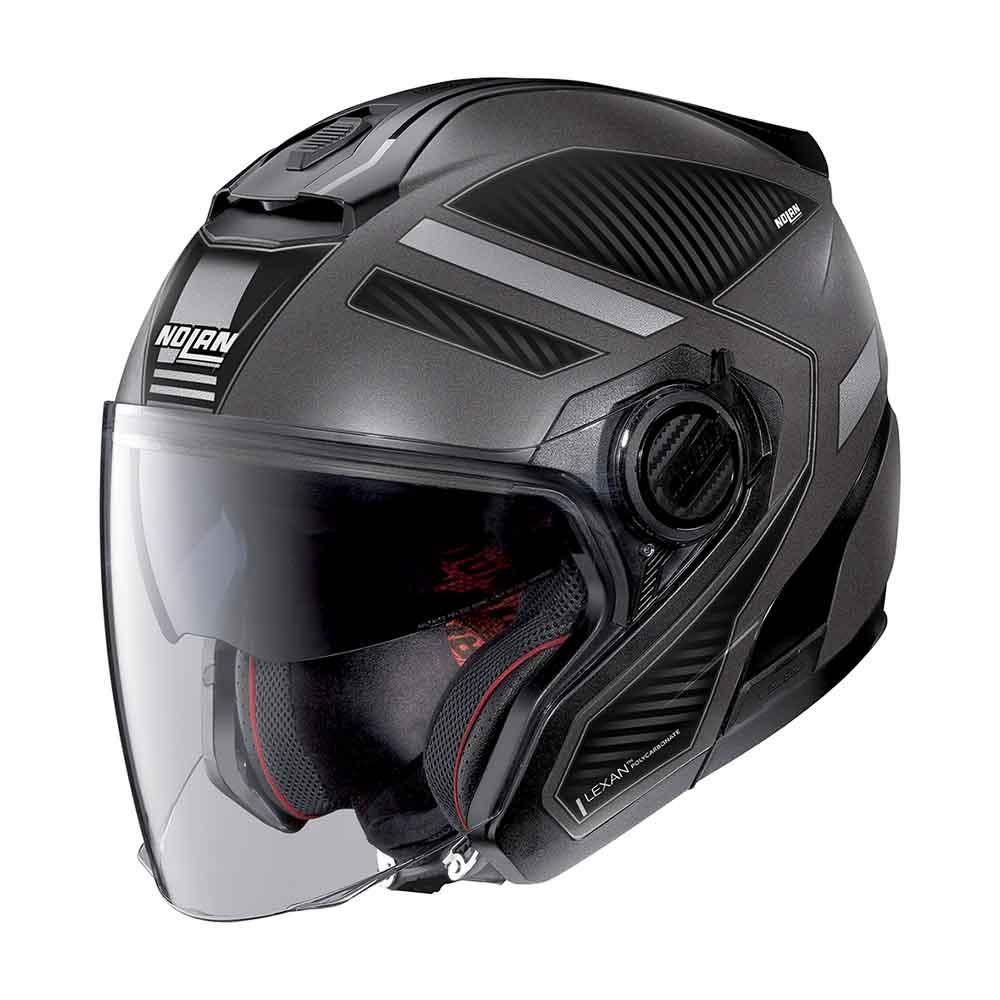 Capacete Nolan N40-5 Beltway Cinza/Preto 20 C/ Viseira Solar Interna  - Motosports