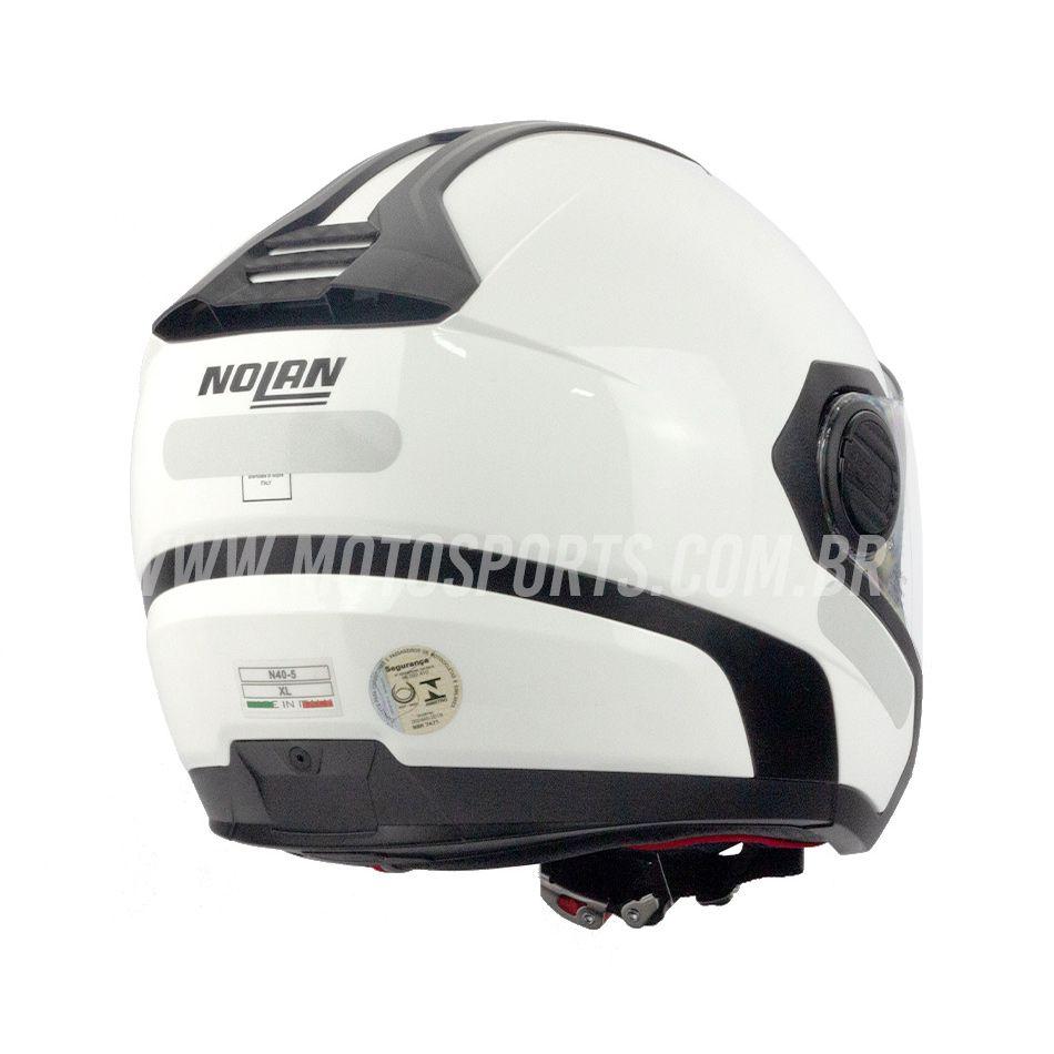 Capacete Nolan N40 Special Branco C/ Viseira Solar Interna - NOVO!  - Motosports