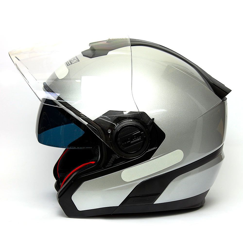 Capacete Nolan N40 Special Prata C/ Viseira Solar Interna - NOVO!  - Motosports
