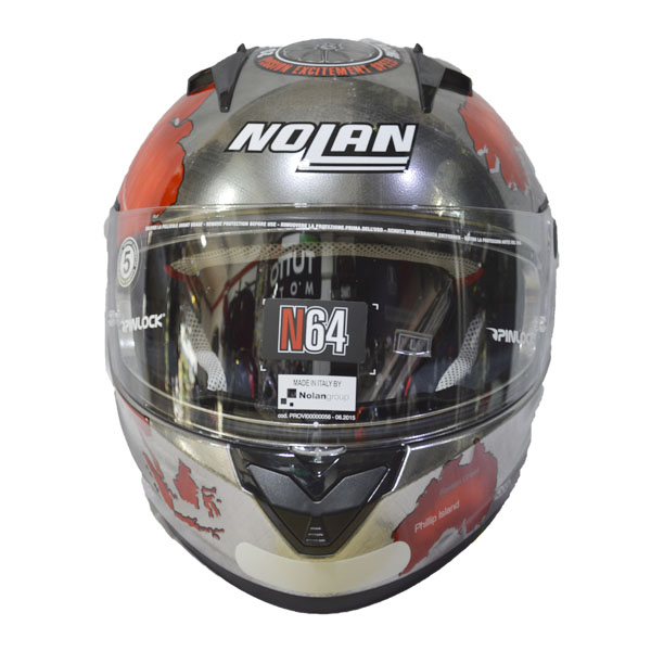 CAPACETE NOLAN N64 GEMINI RÉPLICA C.Checa - MegaOferta!  - Motosports