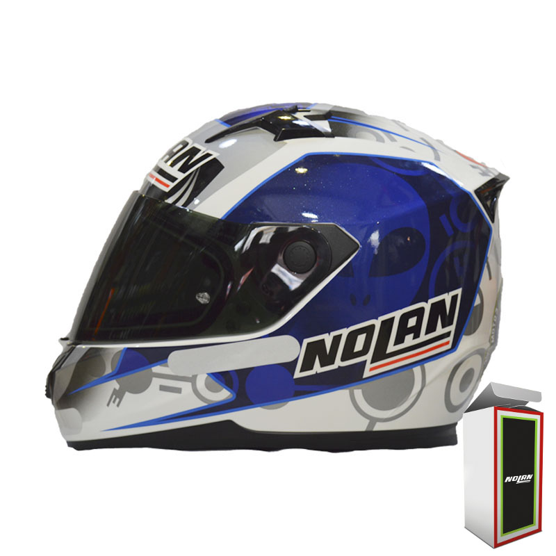 CAPACETE NOLAN N64 GEMINI RÉPLICA - E. BASTIANINI - METAL WHITE  - Motosports