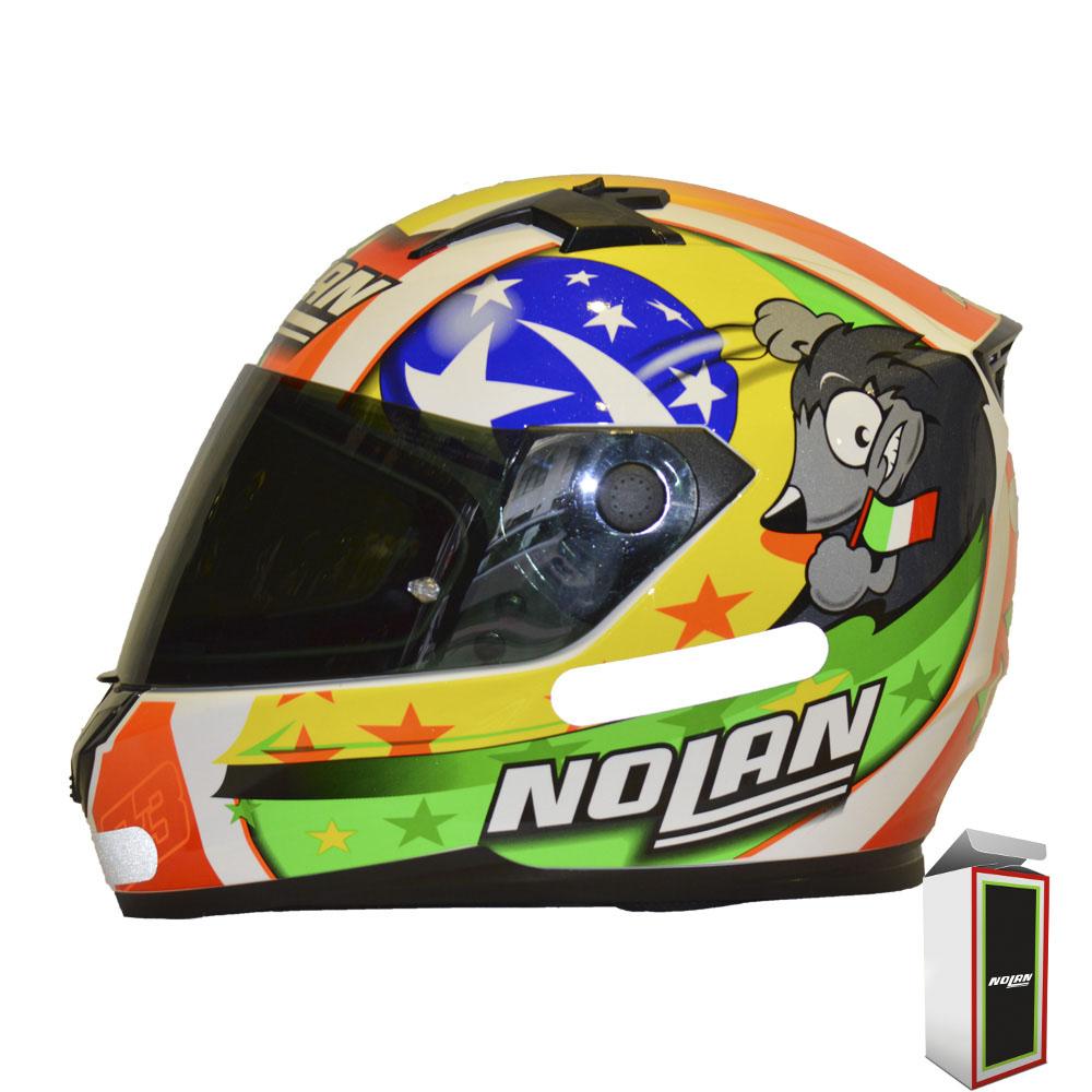 Capacete Nolan N64 Gemini Replica M. Melandri Misano  - Motosports