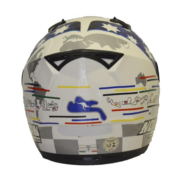 Capacete Nolan N64 Gemini Replica Stoner Tribute  - Motosports