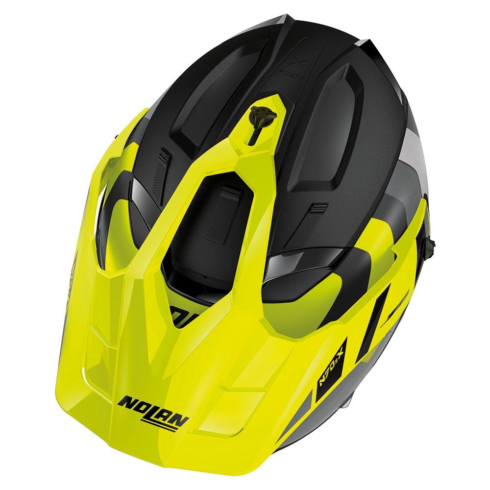 Capacete Nolan N70-2X Decurio Preto/Amarelo C/ Viseira Solar - Ganhe Touca Balaclava  - Motosports