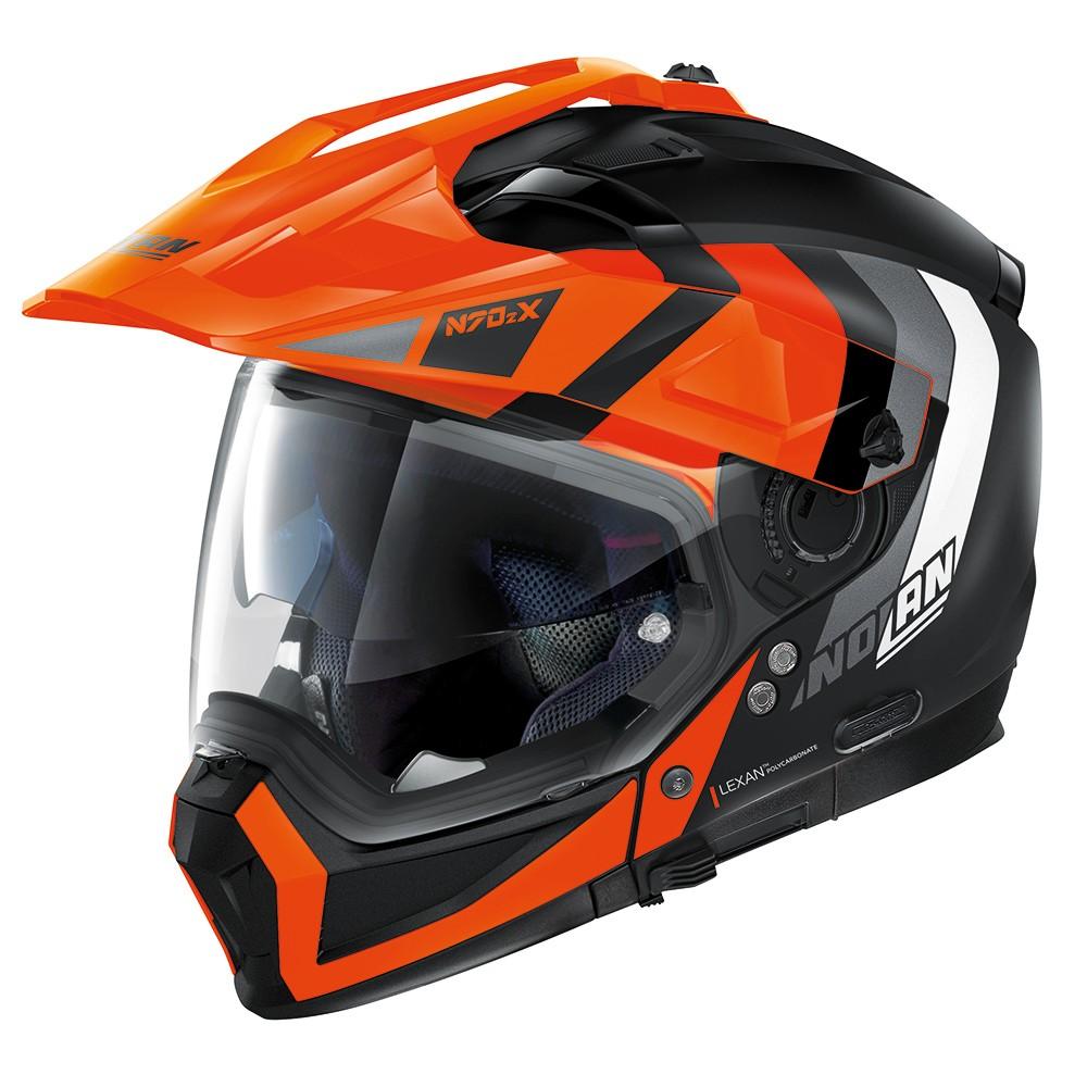 Capacete Nolan N70-2X Decurio Preto/Laranja C/ Viseira Solar - Ganhe Touca Balaclava  - Motosports