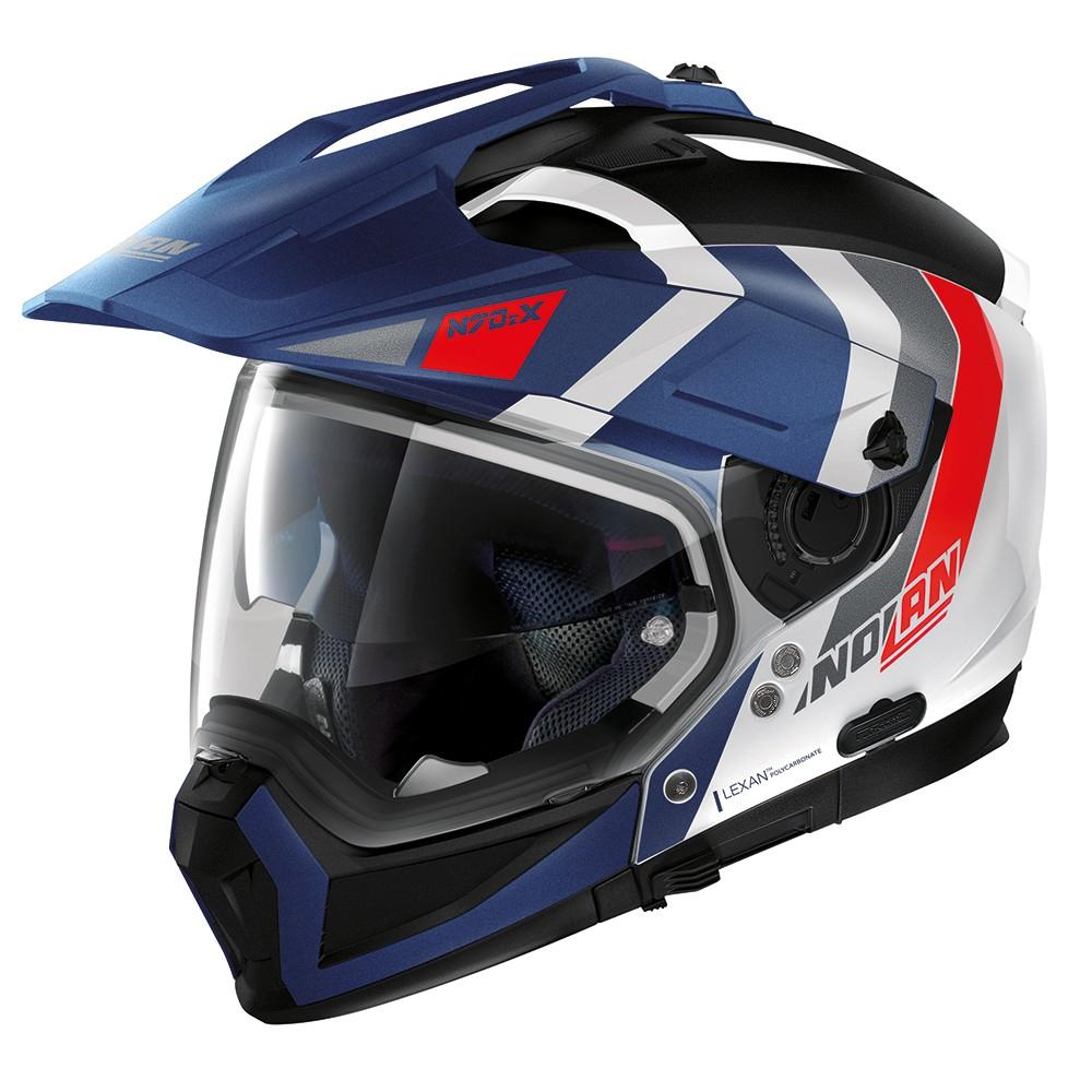 Capacete Nolan N70-2X Decurio Tricolor C/ Viseira Solar - Ganhe Touca Balaclava  - Motosports