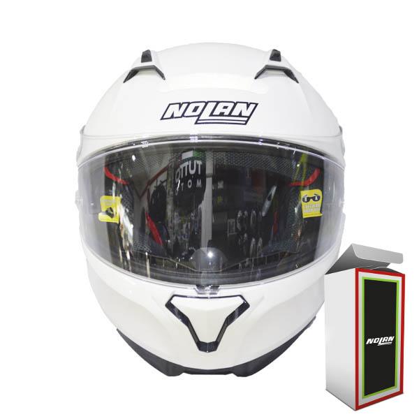 Capacete Nolan N87 CLASSIC N-COM 5 METAL WHITE (COMPRE E GANHE UMA BALACLAVA)  - Motosports