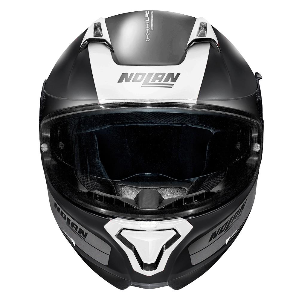 Capacete Nolan N87 Distinctive Preto/cz/br (cor 23) - C/ Viseira Solar - Ganhe Touca Balaclava  - Motosports