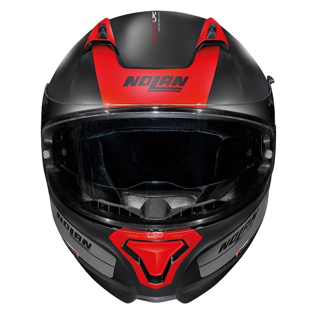 Capacete Nolan N87 Distinctive Preto/Vermelho (cor 24) - C/ Viseira Solar - Ganhe Touca Balaclava  - Motosports